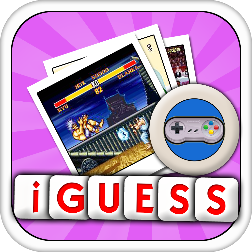 iGuess for TOP SNES Video Games ( VDO Game Screenshot Pictures Quiz )