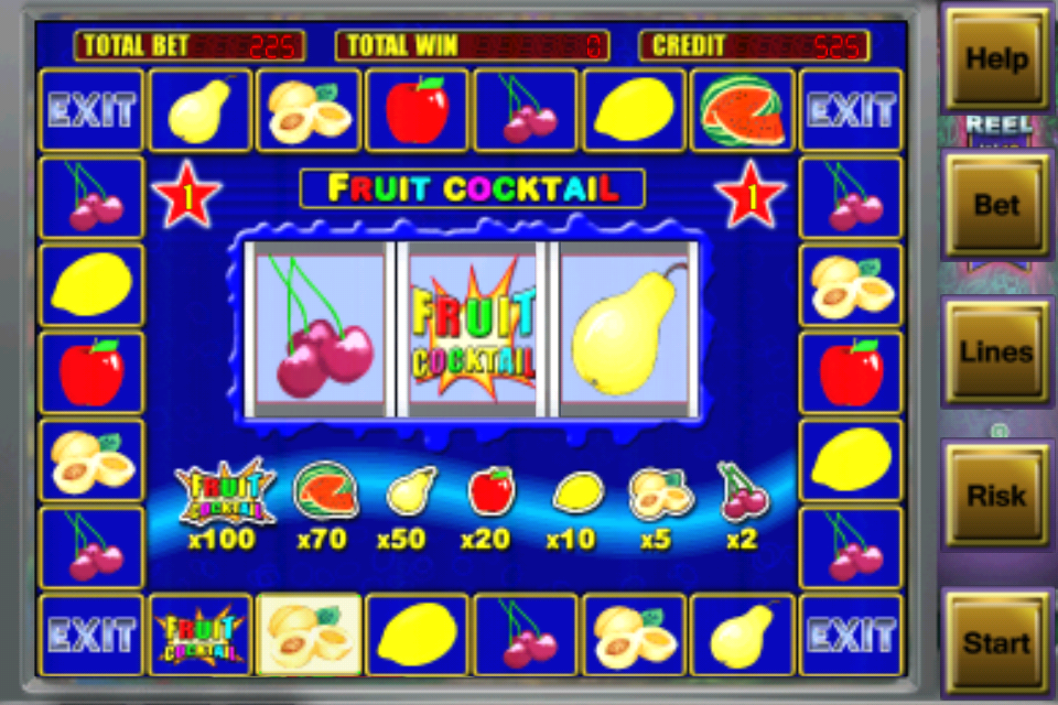 Fruit cocktail slots iphone
